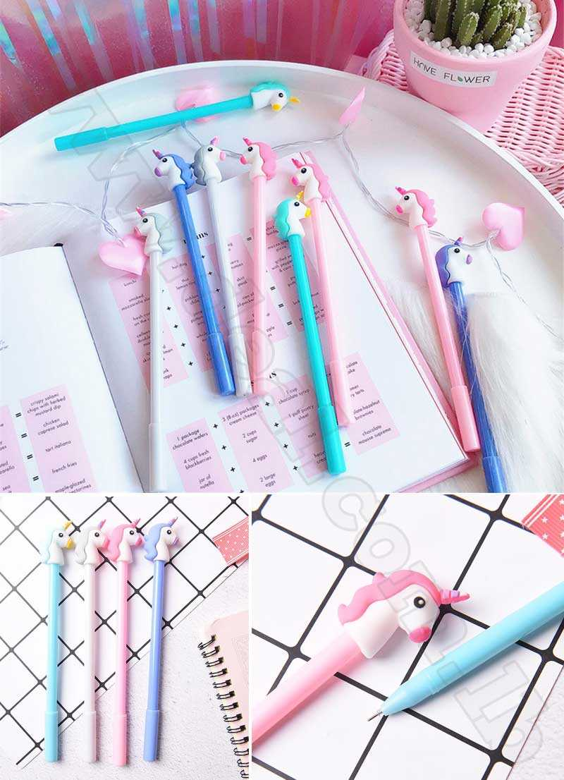 0.35 mm Cute Unicorn Cartoon Gel Pen Promotional Gift Stationery School