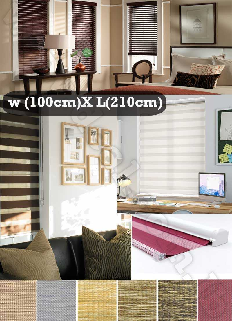 100*210 CM Tracery Design Shapes Duo Roller Blinds