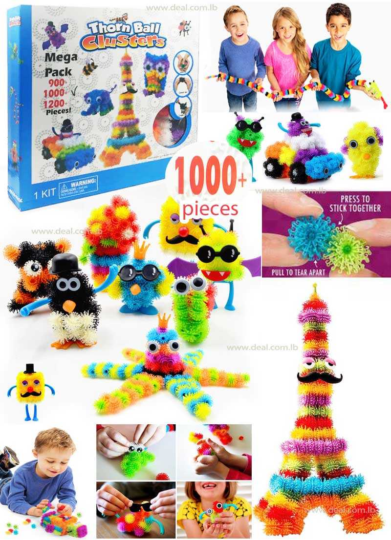 1000 PCS Child Puzzle Assembly 3D Educational Fluffy Ball Clusters Squeezed Creative Shape