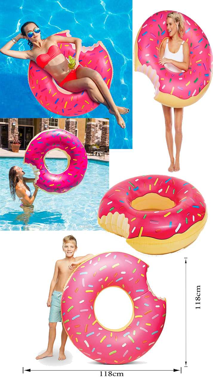 118cm Giant Frosted Donut Pool Float