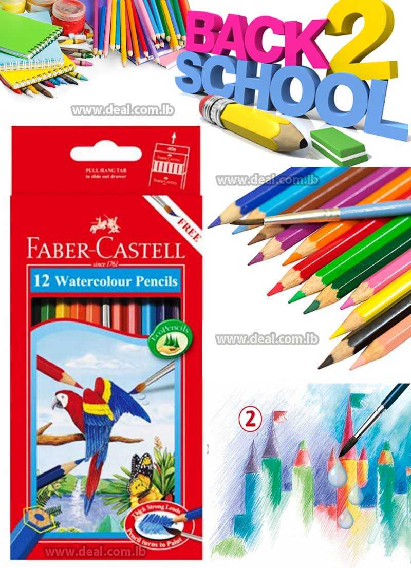12 Colors Faber Castell Watercolor Pencils Cancelleria Profession For Drawing Sketch Prisma Colored Pencil Set Lapices New