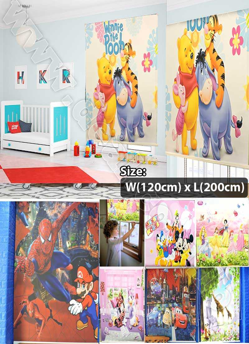 120cm x 200cm Roller Blind  Blackout Cartoon For Rooms Kids