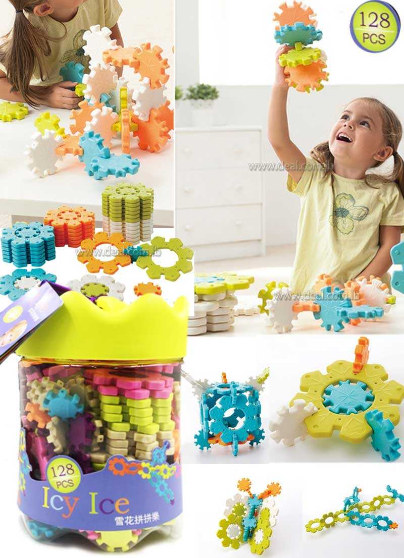 128 pcs Icy Ice Building Block Set