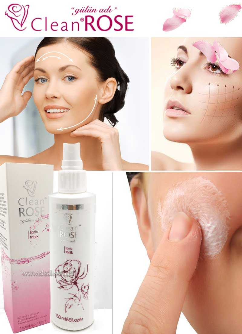 150 ml Clean Rose tonic cream for face to balance your skin