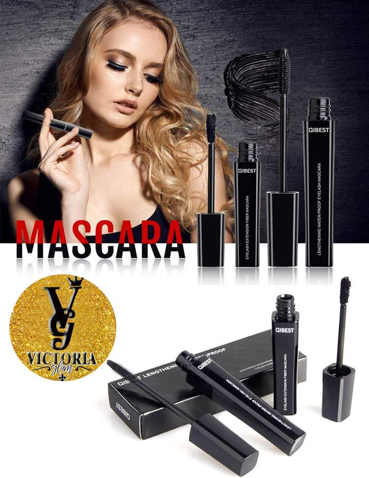 2 Pcs Waterproof Mascara Long Black Lash