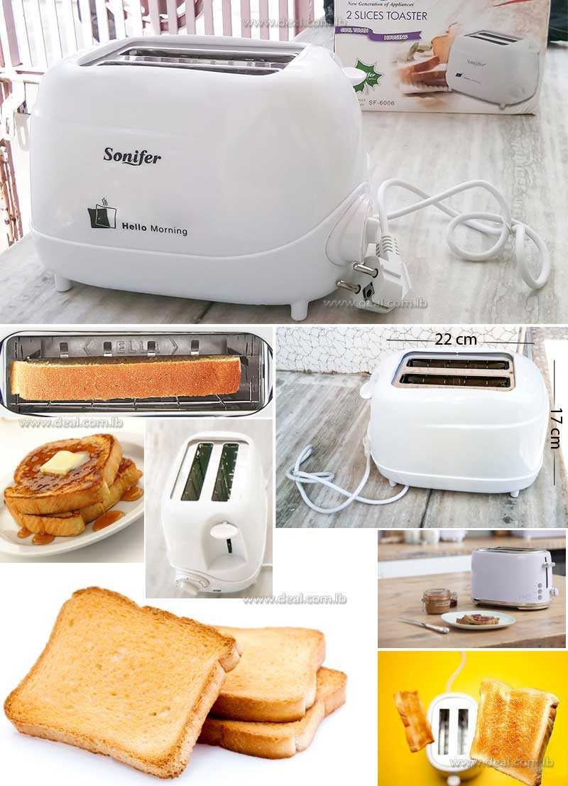 2 Slices Toaster With Stainless Steel Body