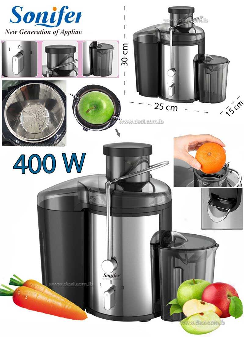 2 Speed Fruit And Vegetable Juice Extractor Removable 400 W
