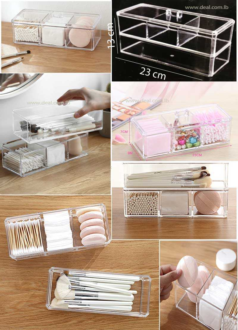 2+Tiers+Storage+Stackable+Storage+Box+Acrylic+Make+