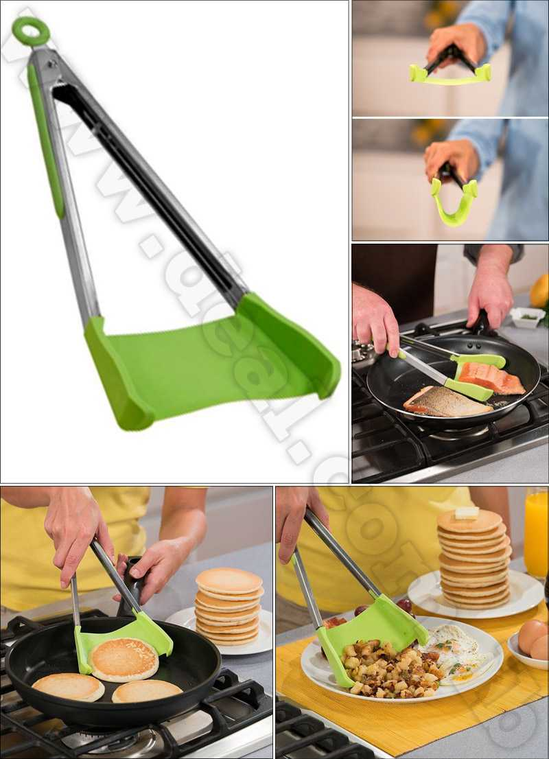 2 in 1 Kitchen Spatula and Tongs Clever Tongs