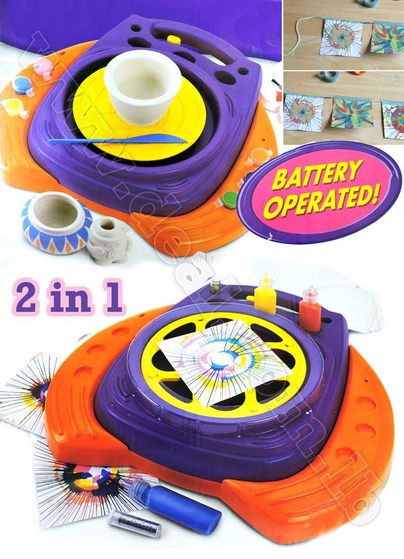 2 in 1 Spinner maker And Pottery Toy