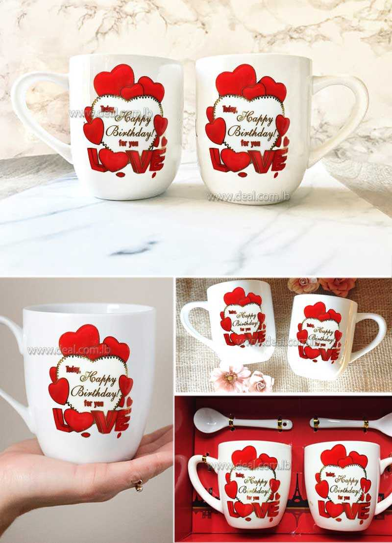 2+pcs+Birthday+lovers+mugs