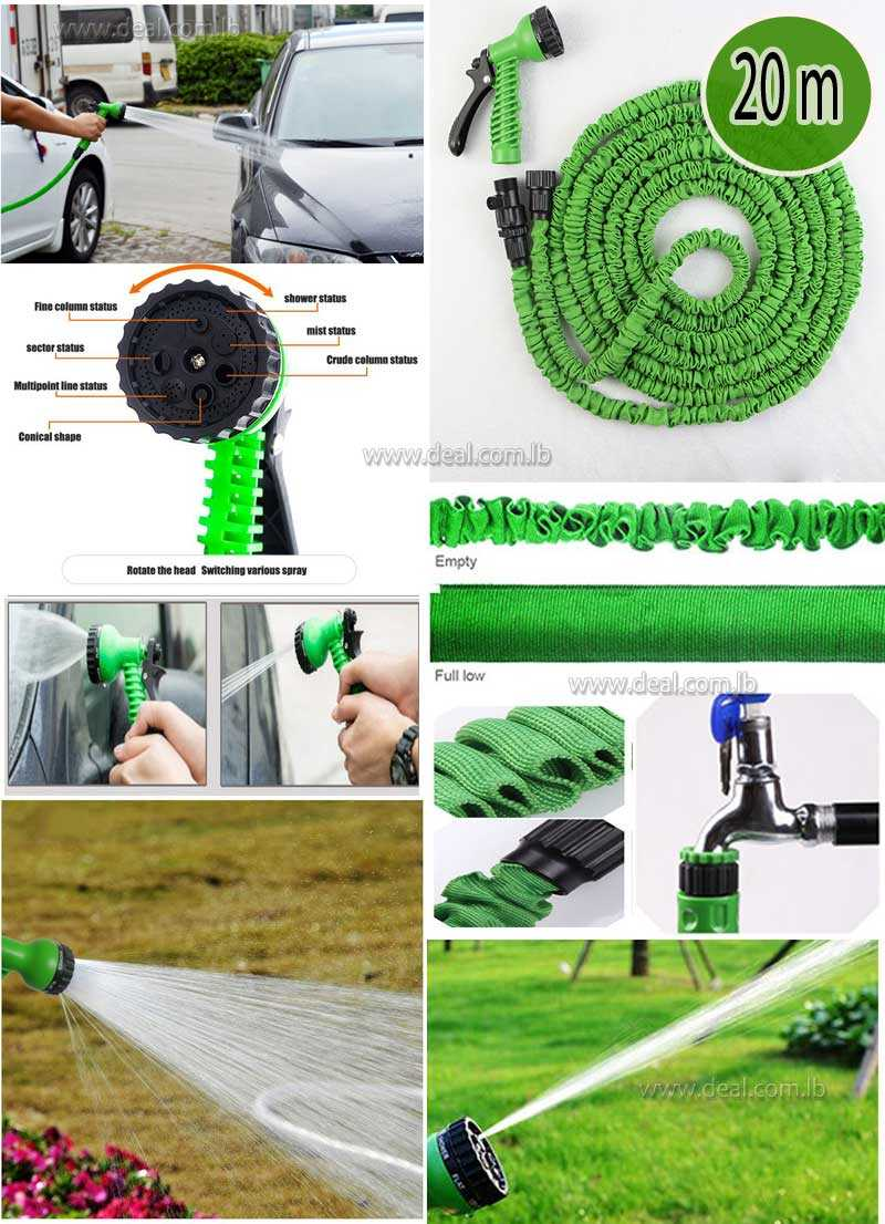 20 Meter Expandable Flexible Water Pipe Garden