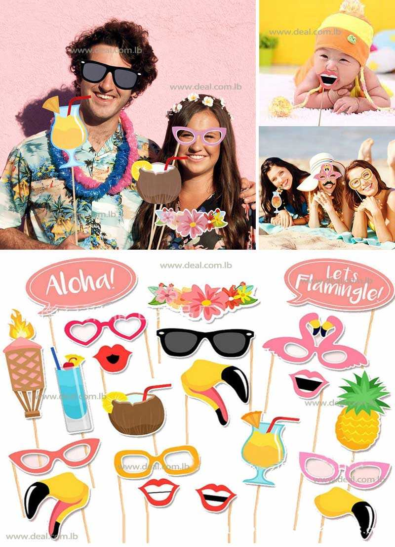 20 pcs Summer Theme Photobooth Props