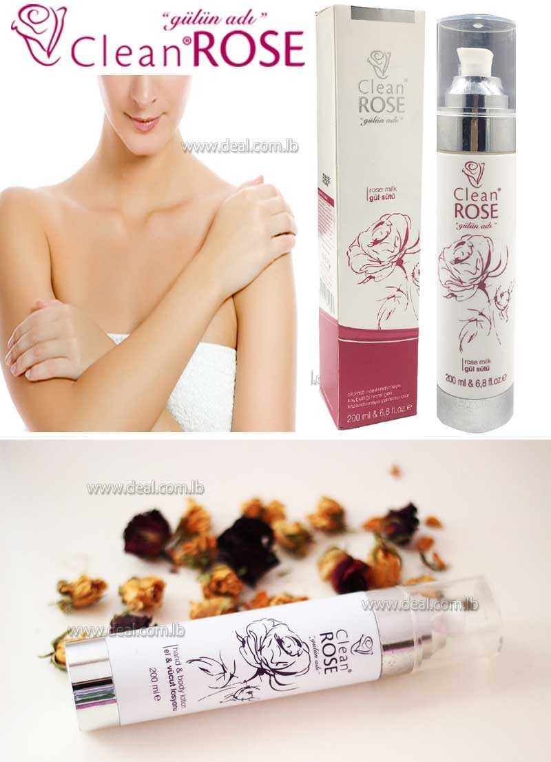 200 ml  Clean rose rose milk Hand and Body Lotion