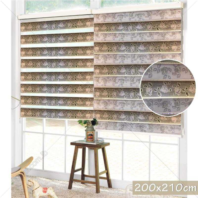 200x210cm Flower Duo blinds curtains Roller horizontal shade