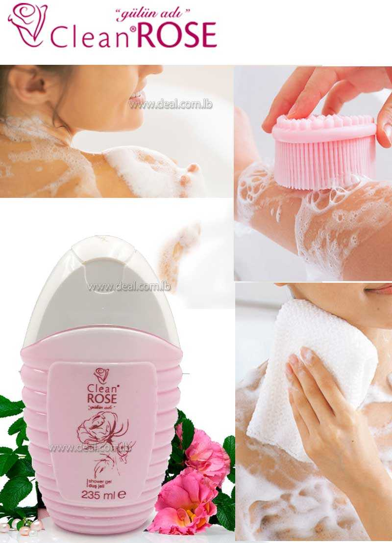 235ml Rose clean Shower Gel