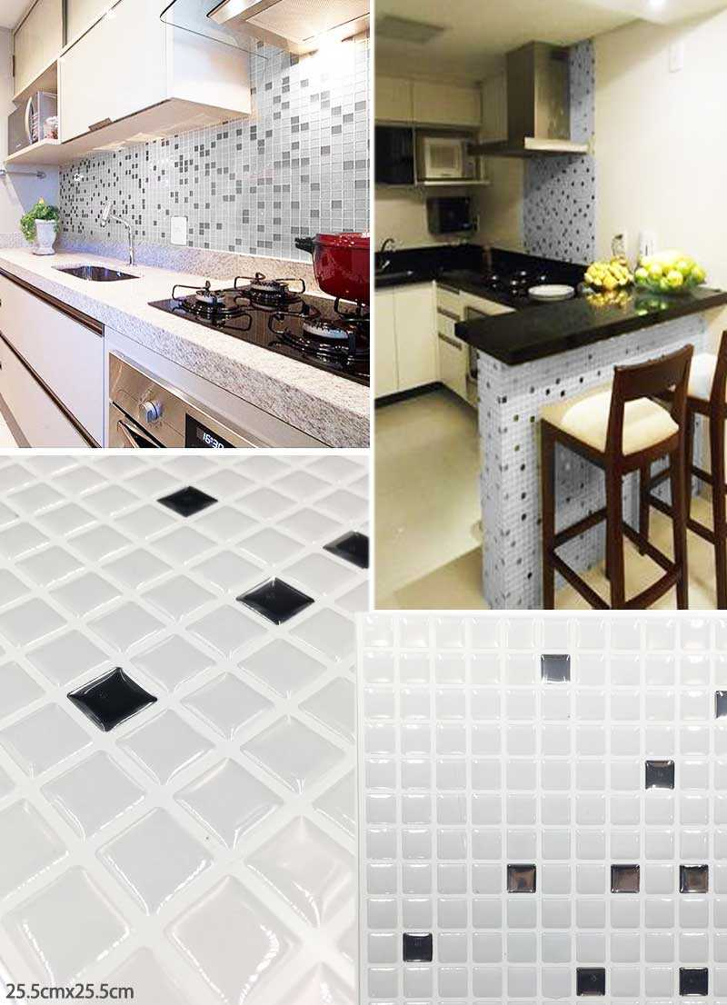 25.5x25.5cm silver and white tiles 3d Adhesive Faux Tile Vinyl Peel and Stick Tiles Subway