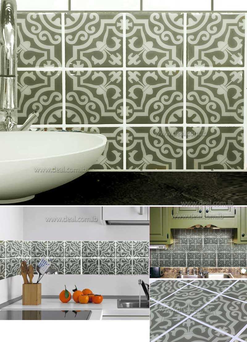 tile stickers for kitchen 25cmx25cm tile decals set of 16 tile stickers for kitchen 6184