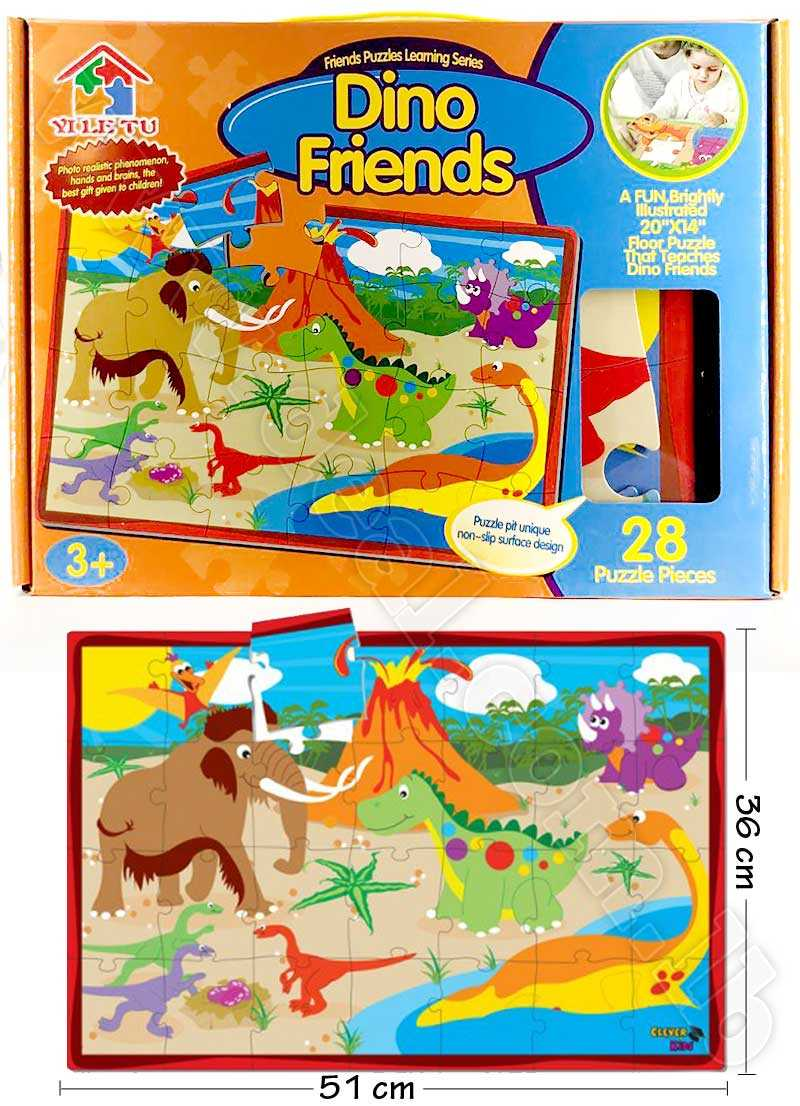 28 pcs Dino Friends Puzzle