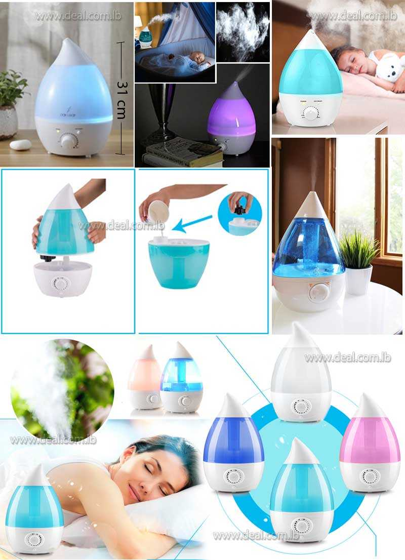 2L Ultrasonic Humidifier Essential Oil Diffuser Water Dripping Air