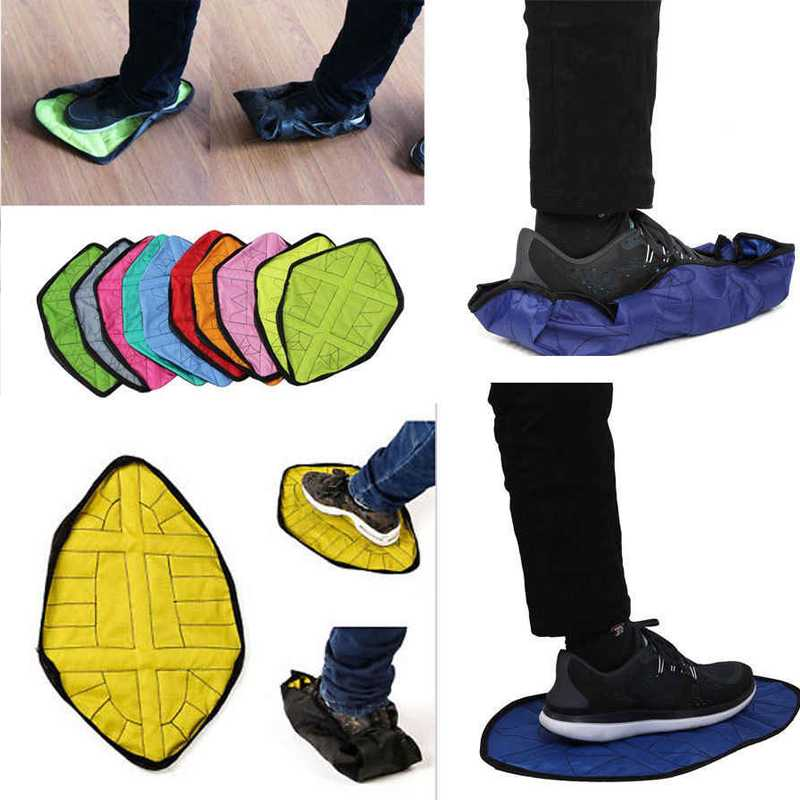 2pc Reusable portable automatic shoe One Step