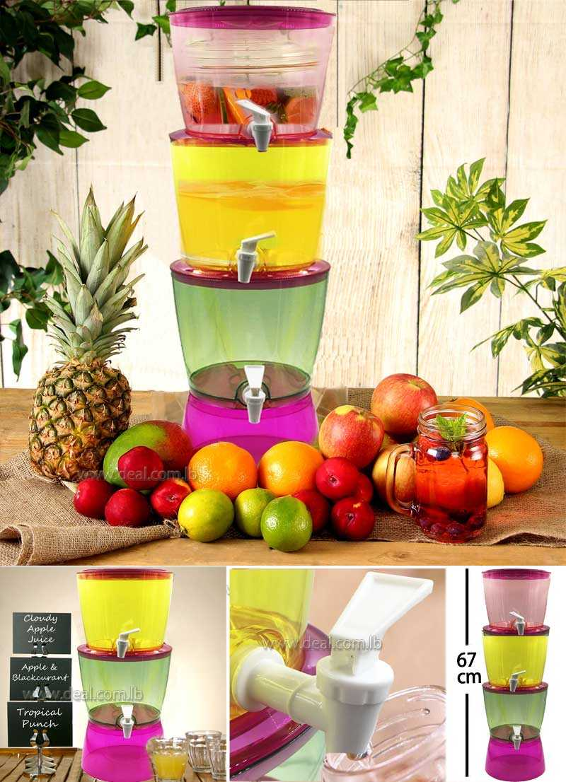 3 TIER 9L juice and WATER dispenser