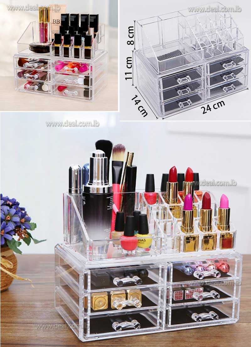 3 TIER LAYERS CLEAR ACRYLIC COSMETIC RACK ORGANIZER