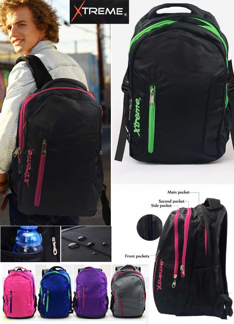 3 pockets without design bag school  bag boys and girls teenagers bag