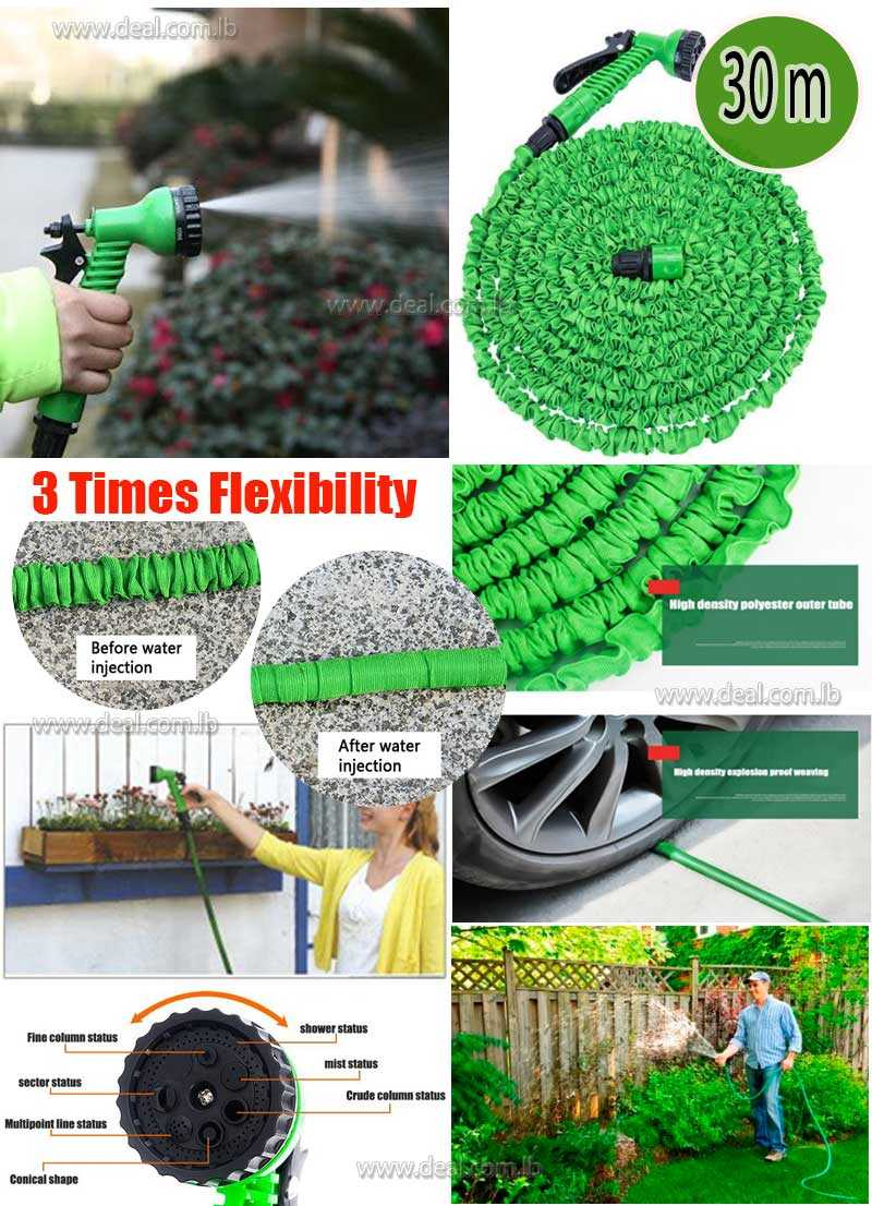 30 Meter Expandable Flexible Water Pipe Garden