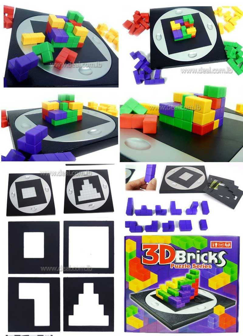 3D BRICKS PUZZLE SERIES FUN KIDS AND FAMILY PARTY GAME