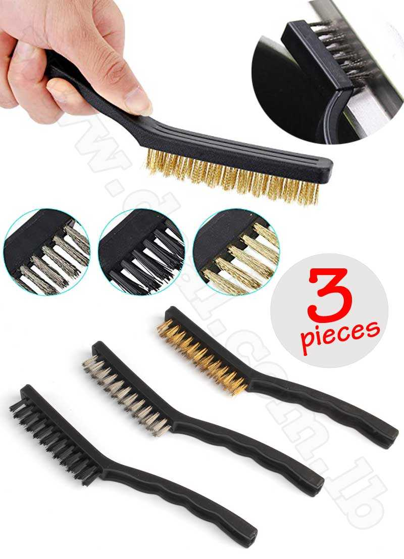 3Pcs Stainless Wire Brush Set