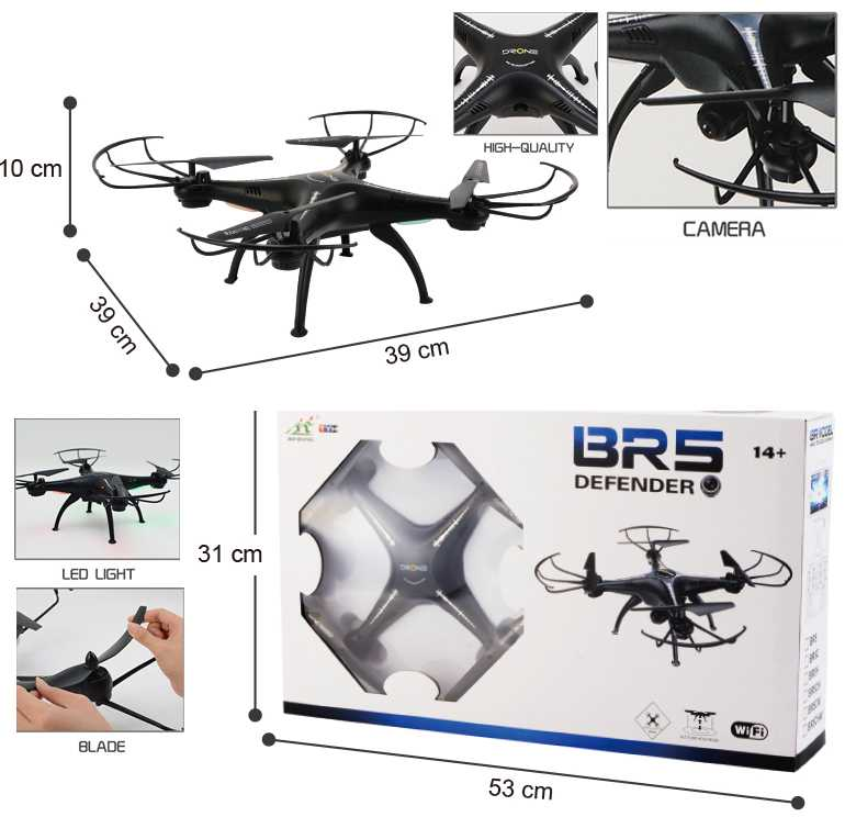 4-AXIS AIRCRAFT 2.4Ghz 6CH Remote Control Quadcopter