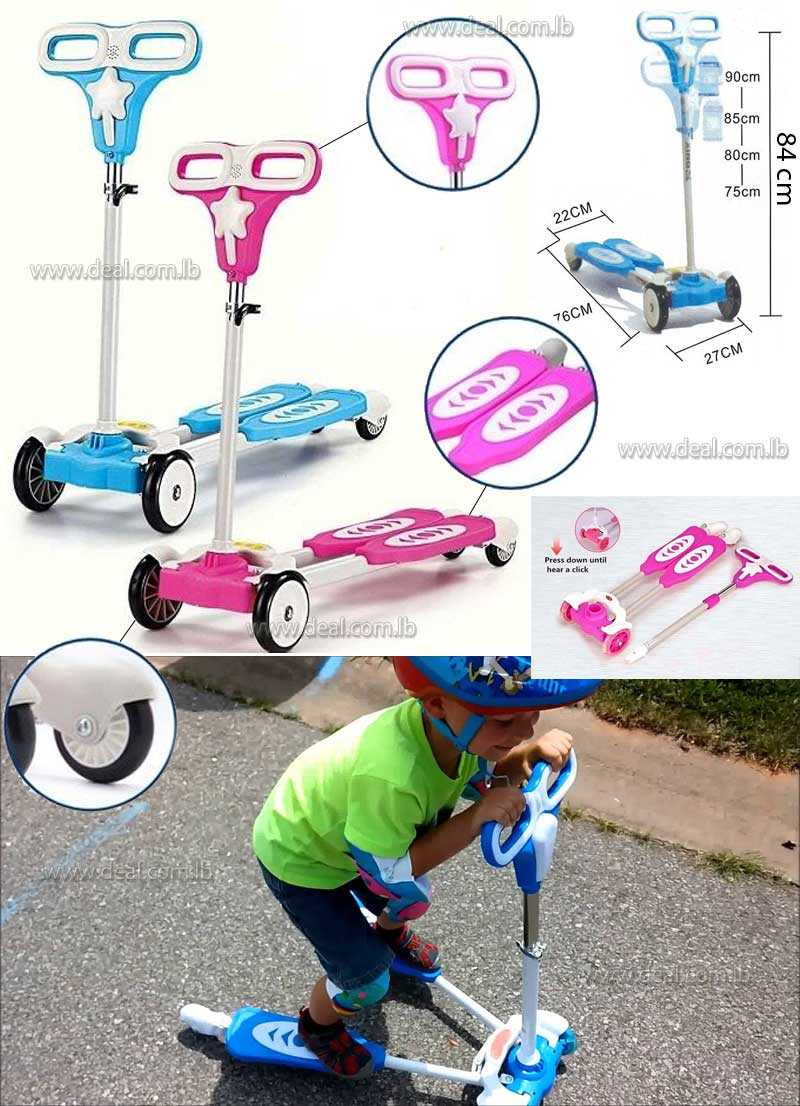 4 Wheels Frog Scooter Kid Scooter Toy Bicycle