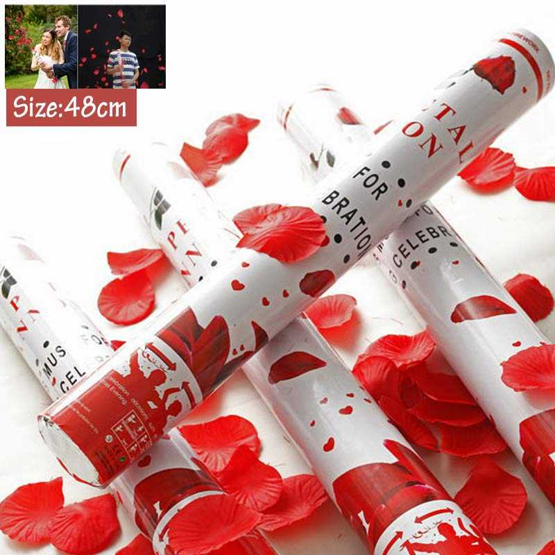 48cm  Wedding rose petal Cannon streamer party popper