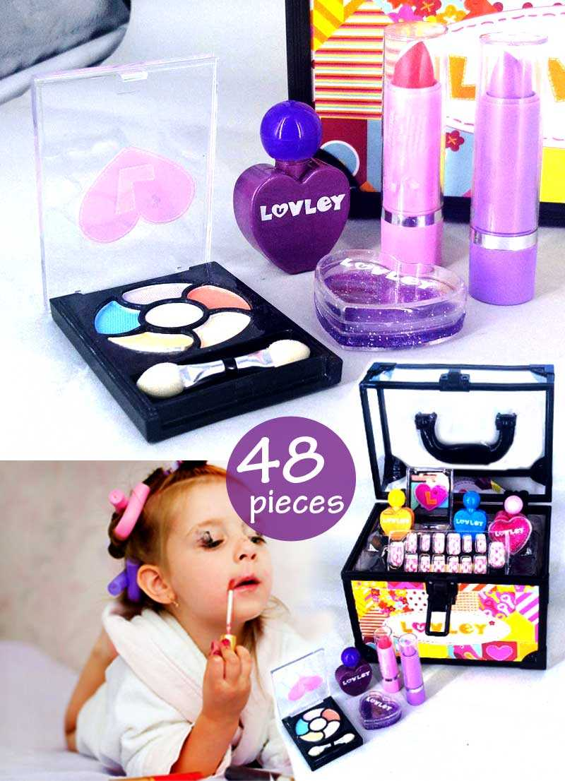 48pcs Cosmetic Travel Box Makeup Set Girl