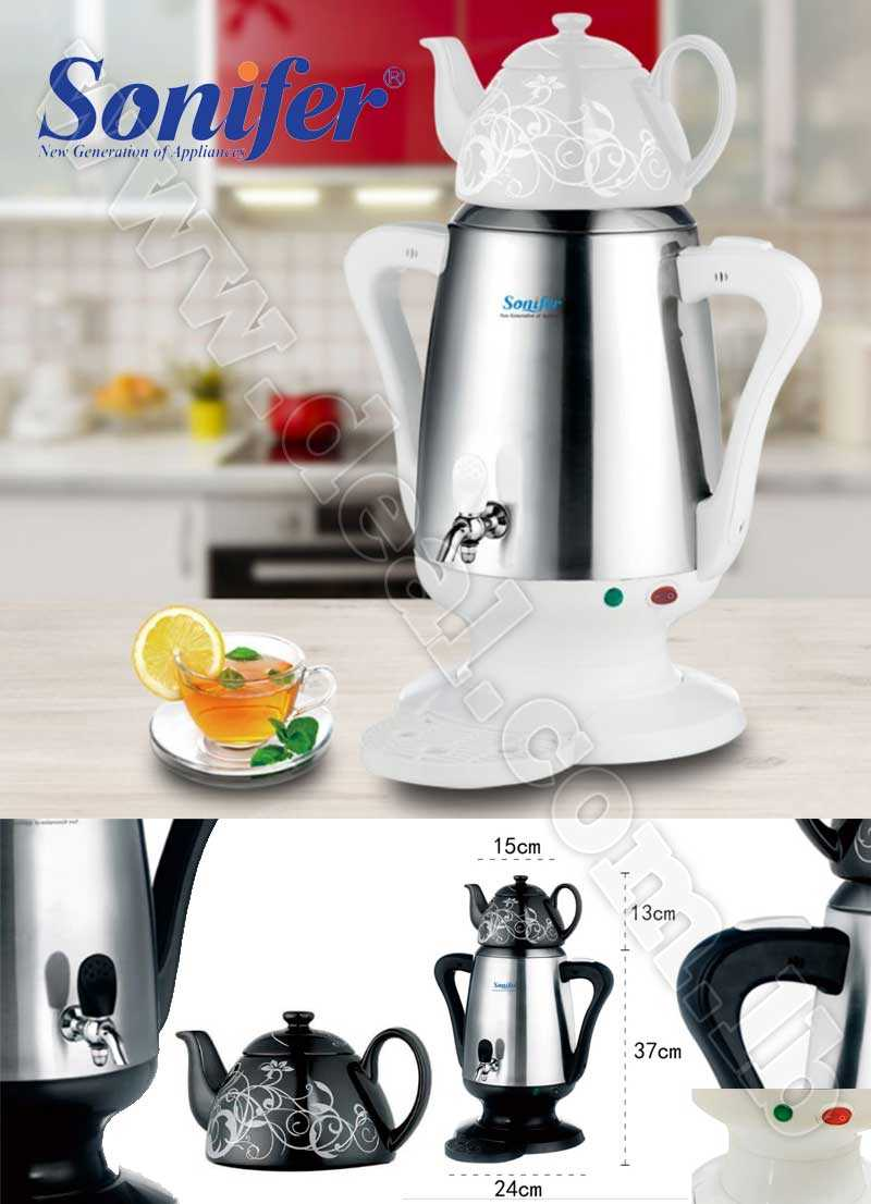 4L Stainless steel Ceramic Electric kettle Samovar Adjustable temperature Sonifer