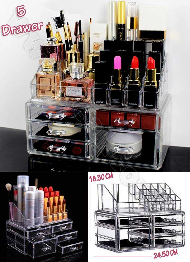 5 Drawer Organizer Makeup Box