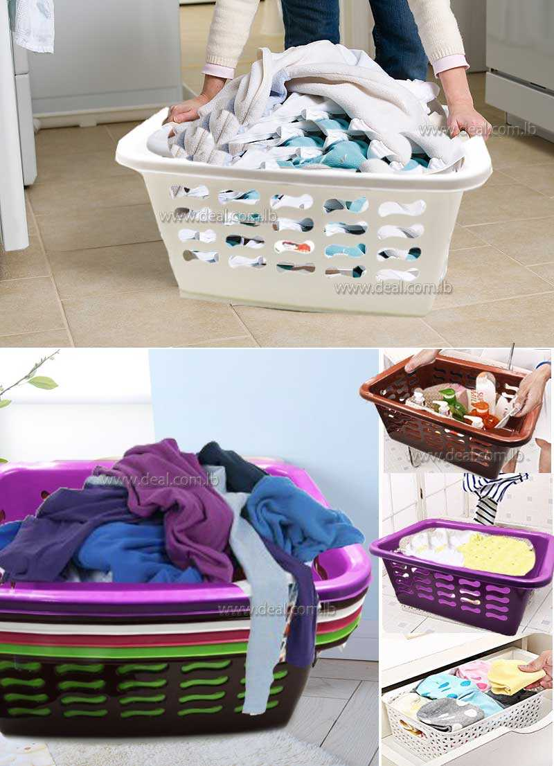 50cmx23cm Plastic square ratten laundry basket  storage basket with lid