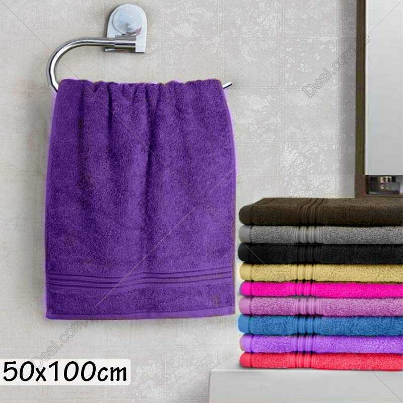 50x100cm Solid Color Towel For Kitchen Or Bathroom