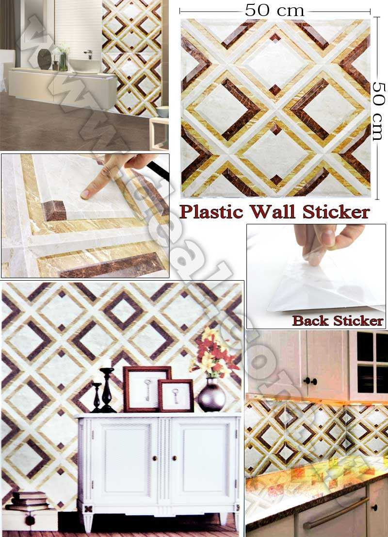 50x50cm Smart Tiles Peel & Stick Plastic 3D Wall Stickers