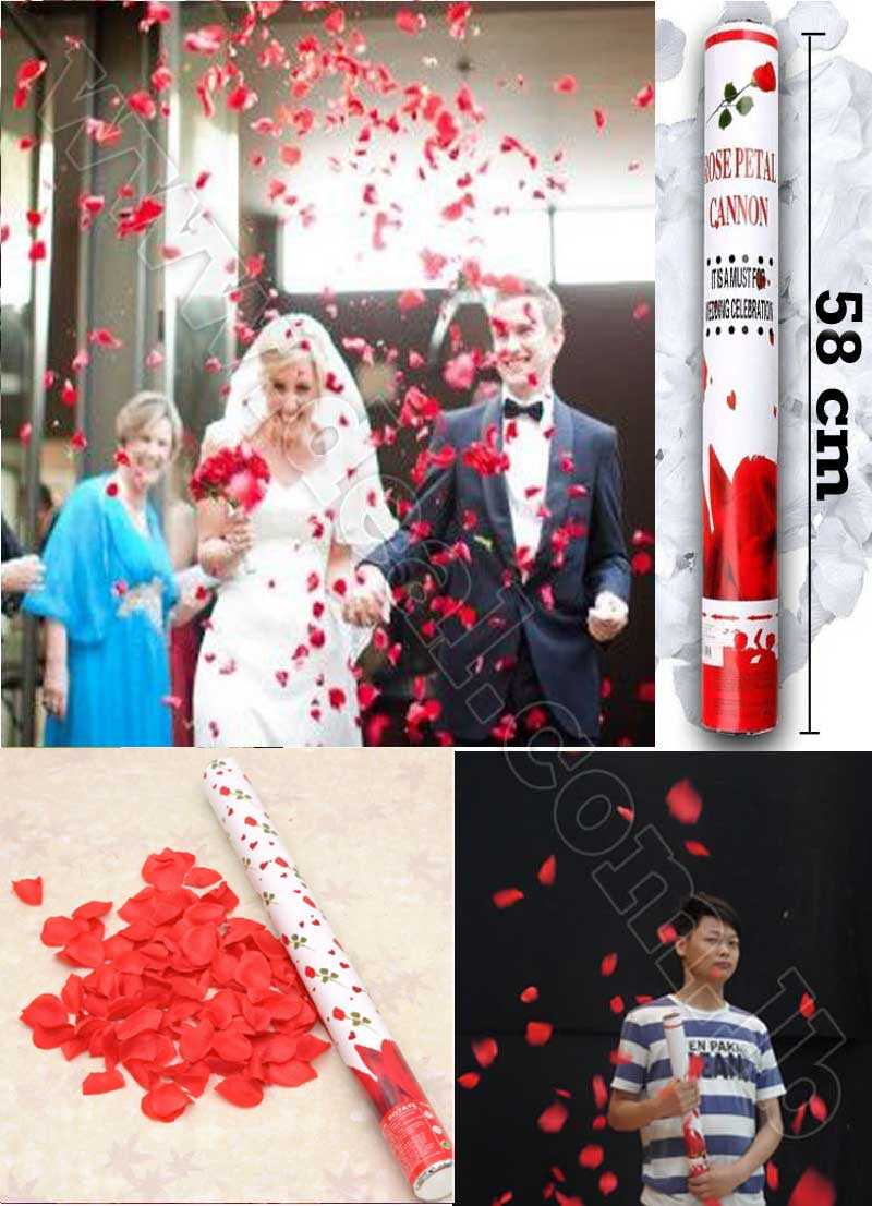 58cm Wedding rose petal Cannon streamer party popper