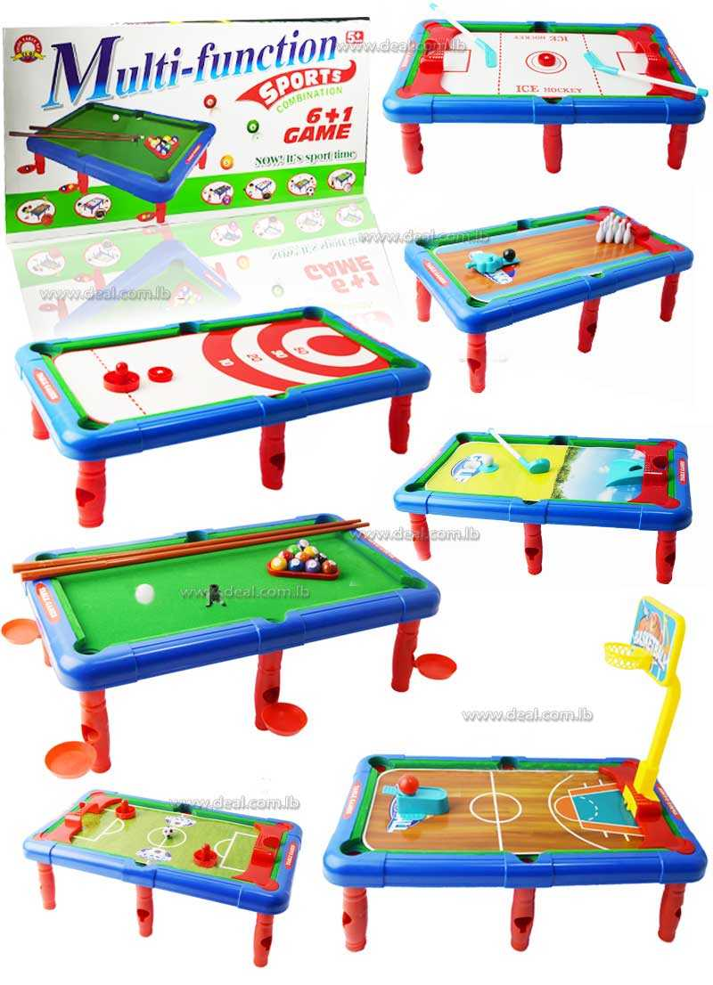6 + 1 sets of Kids Plastic Home Table