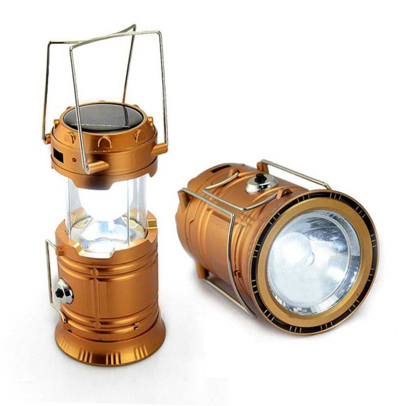 6 LED High Brightness Solar Powered and Rechargeable Camping Lantern