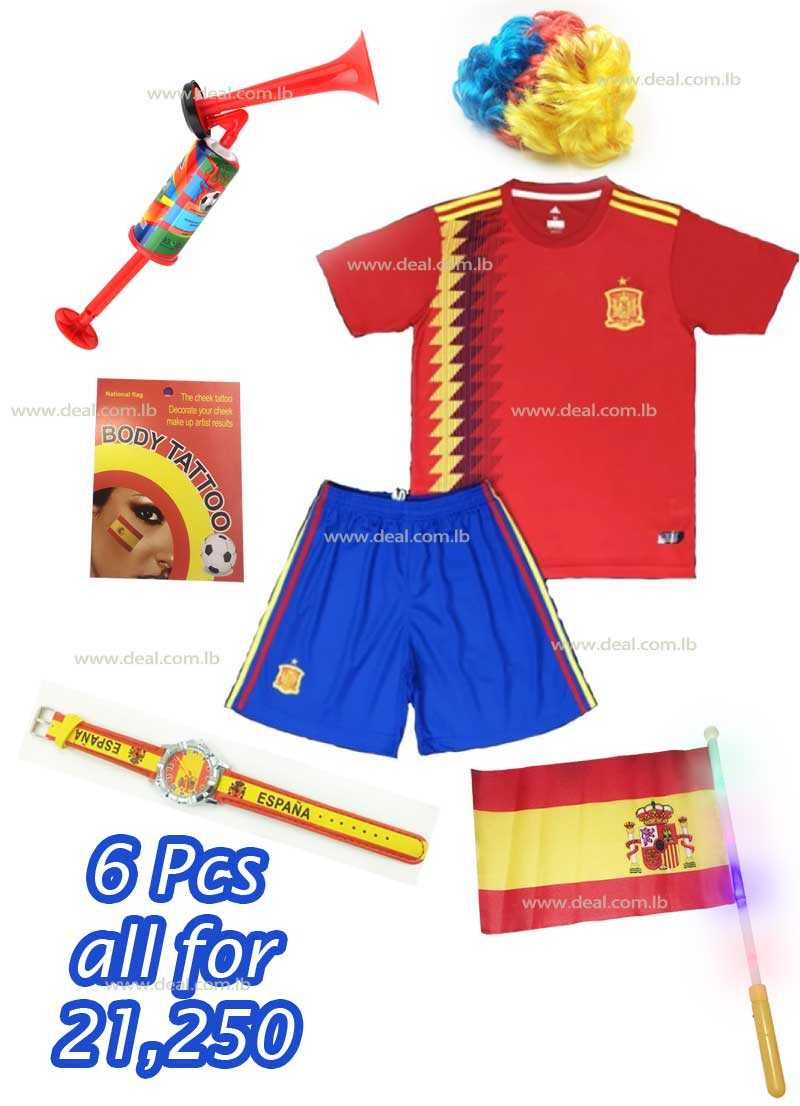 6 Pcs Spain Package