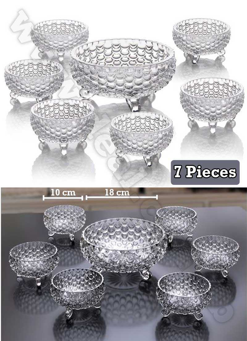 7pcs glass bowl set