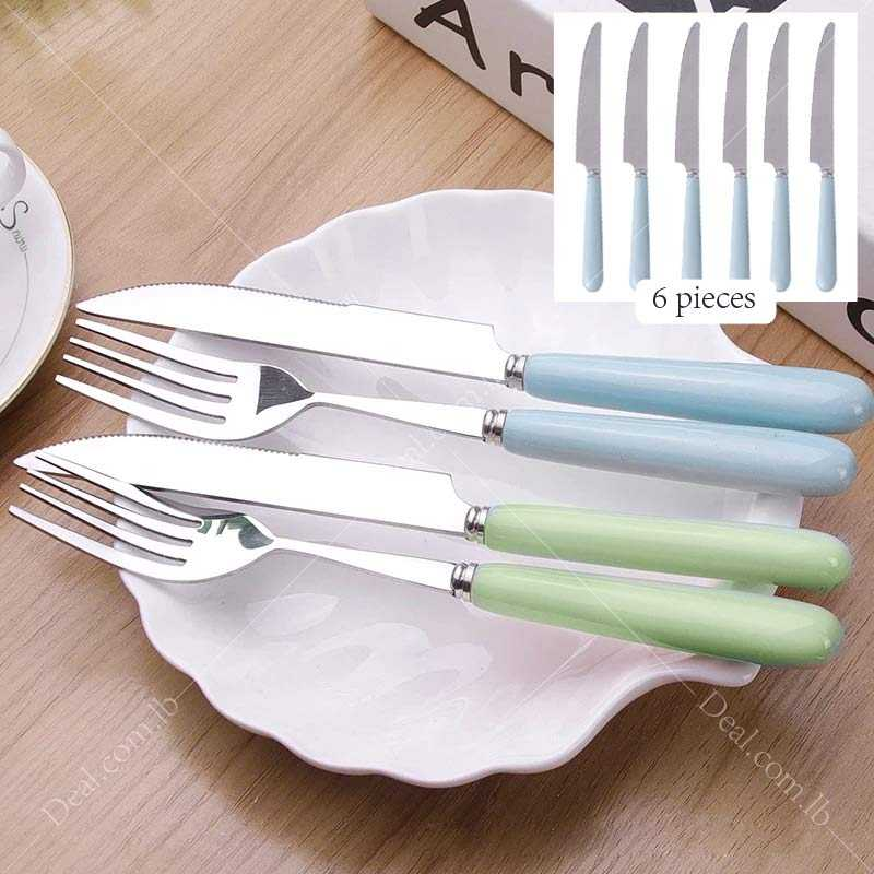 A Set Of 6 pcs Stainless Steel Ceramic Knife