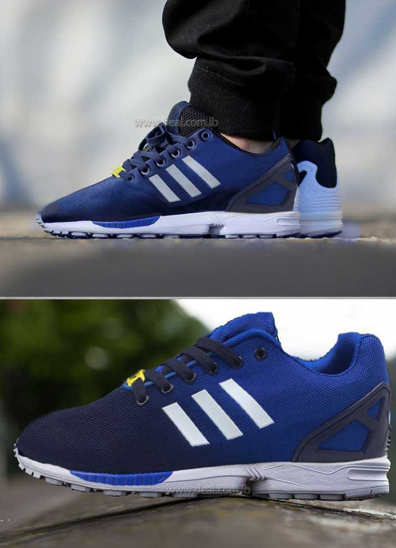 ADIDAS ZX FLUX MESH NAVY  RUNNING WHITE