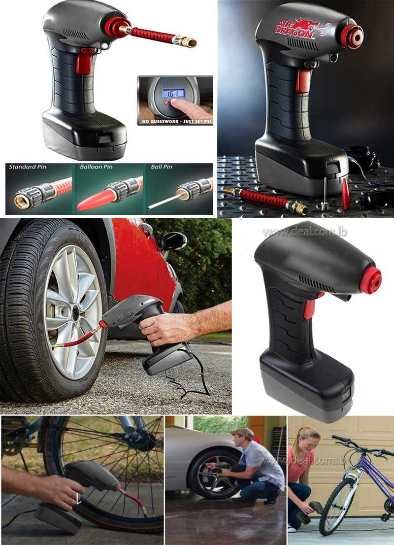 AIR DRAGON Compressor 12V Handheld Portable Digital Car Pump