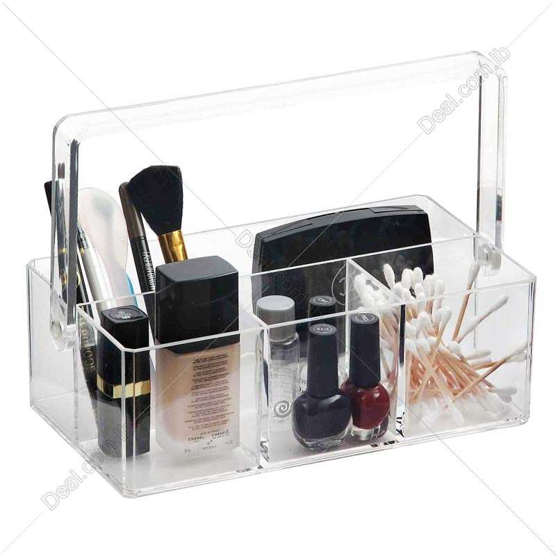 Acrylic Caddy 4 Sections With Handle