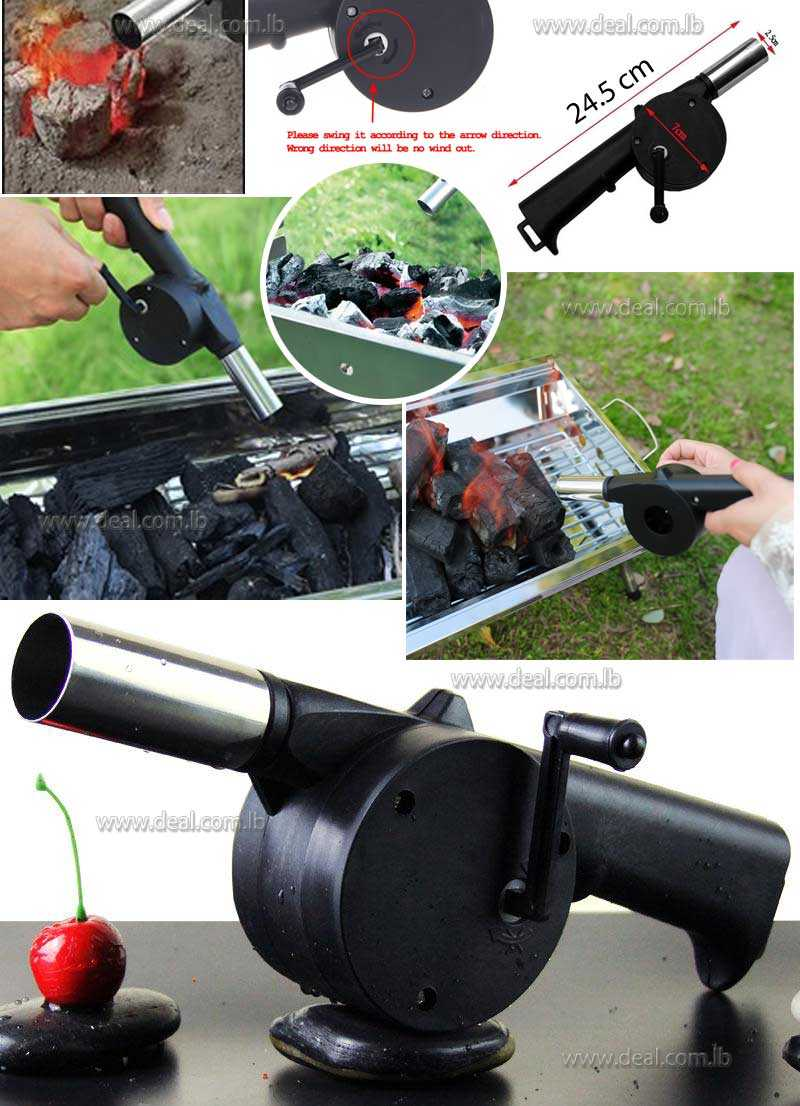 BBQ Blower Fireplace Camping Bellows Grill Fire Starter Flame Exciter